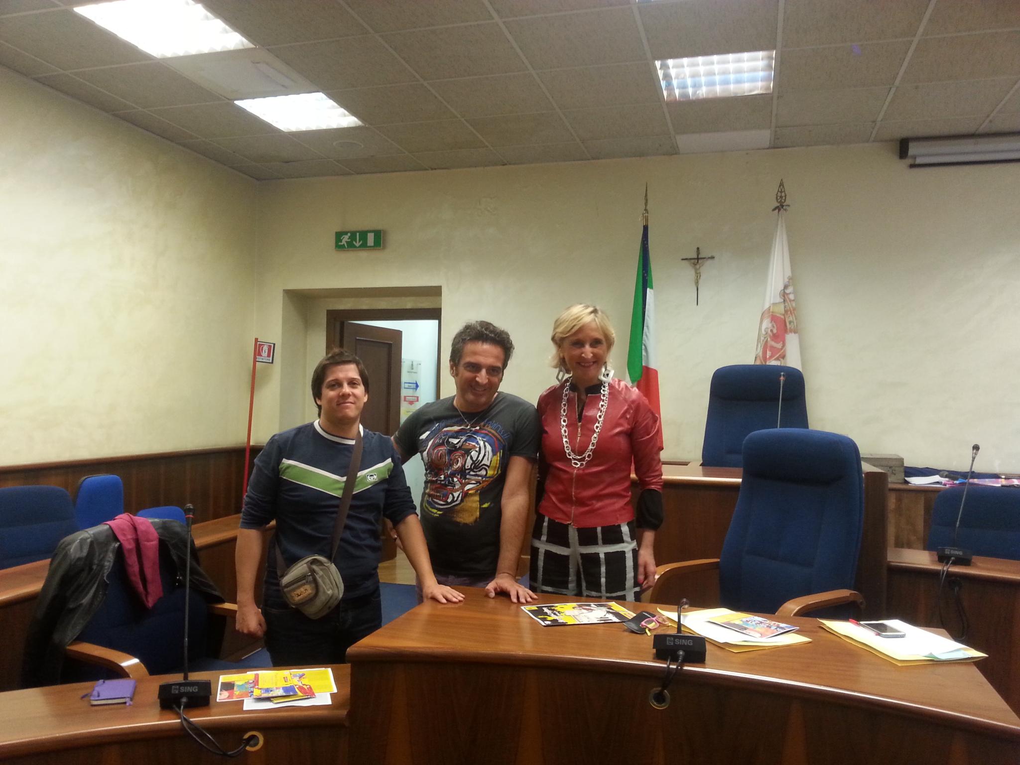 Paolo D'Amata con Rocco Lancia e Rossella Testa