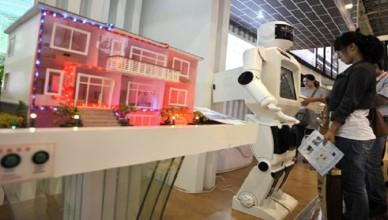 Real estate fair in Qingdao city, China