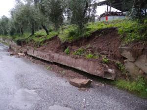 crolla muro al Vallone 1
