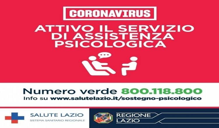 assistenza psicologica lazio coronavirus