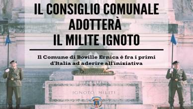 Boville adozione Milite Ignoto