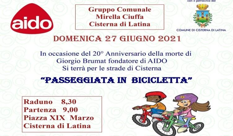 passeggiata bici AIDO Cisterna