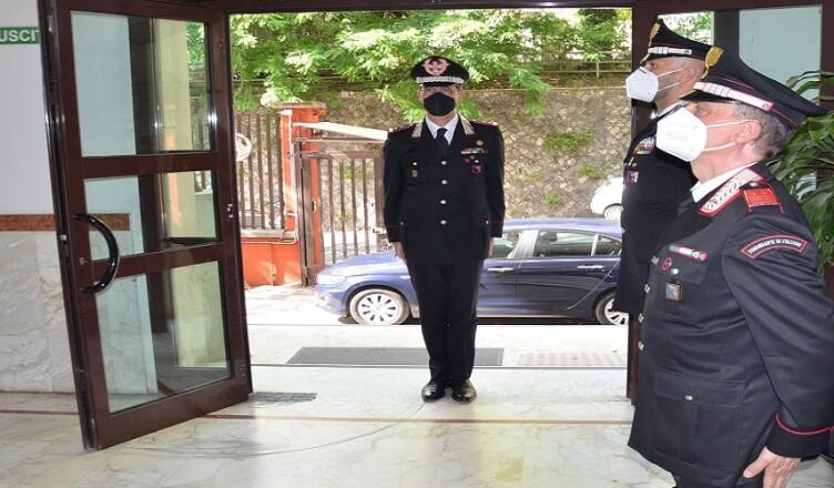 visita Generale comando provinciale Carabinieri